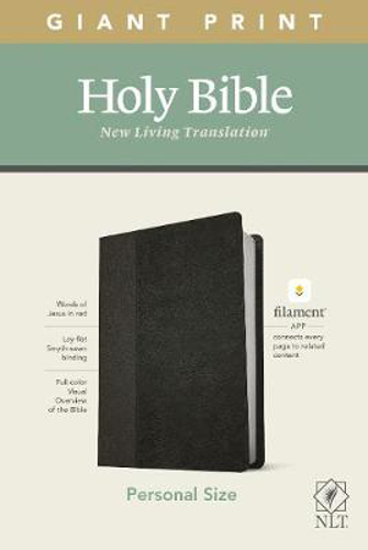 Picture of NLT Personal Size Giant Print Bible, Filament Edition, Black