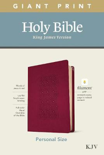 Picture of KJV Personal Size Giant Print Bible, Filament Ed., Cranberry