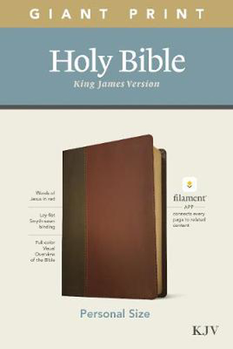 Picture of KJV Personal Size Giant Print Bible, Filament Edition, Brown