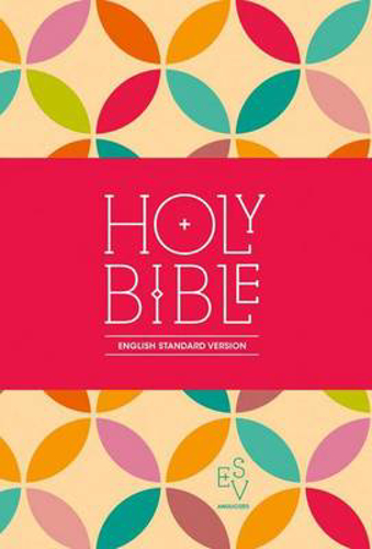 Picture of Holy Bible: English Standard Version (ESV) Anglicised Compact Edition: Printed Cloth: Petals Design