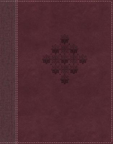 Picture of NRSV, Journal the Word Bible, Leathersoft, Burgundy, Comfort Print: Reflect, Journal, or Create Art Next to Your Favorite Verses