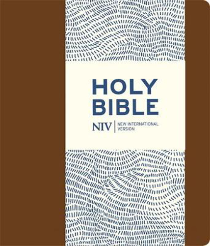 Picture of NIV Journalling Brown Imitation Leather Bible with Clasp