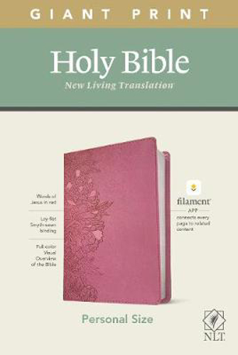 Picture of NLT Personal Size Giant Print Bible, Filament Edition, Pink