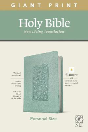 Picture of NLT Personal Size Giant Print Bible, Filament Edition, Teal